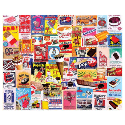 White Mountain Puzzles Ice Cream Bars - 1000 Piece Jigsaw Puzzle