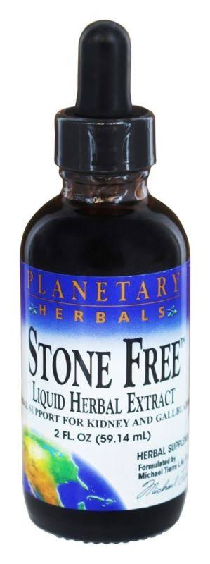 Planetary Herbals Stone Free Liquid Herbal Extract - 2oz