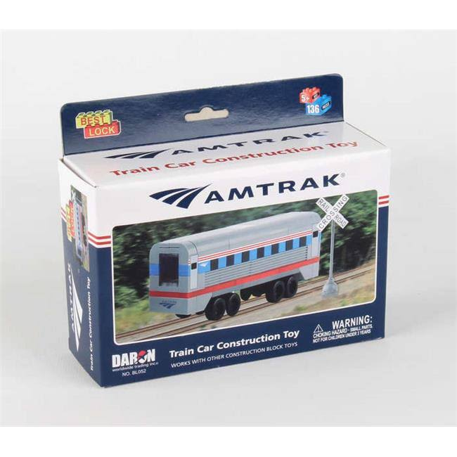Amtrak Construction Train Toy - 136pcs