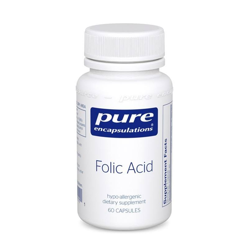 Pure Encapsulations Folic Acid Dietary Supplement Capsules - 60ct