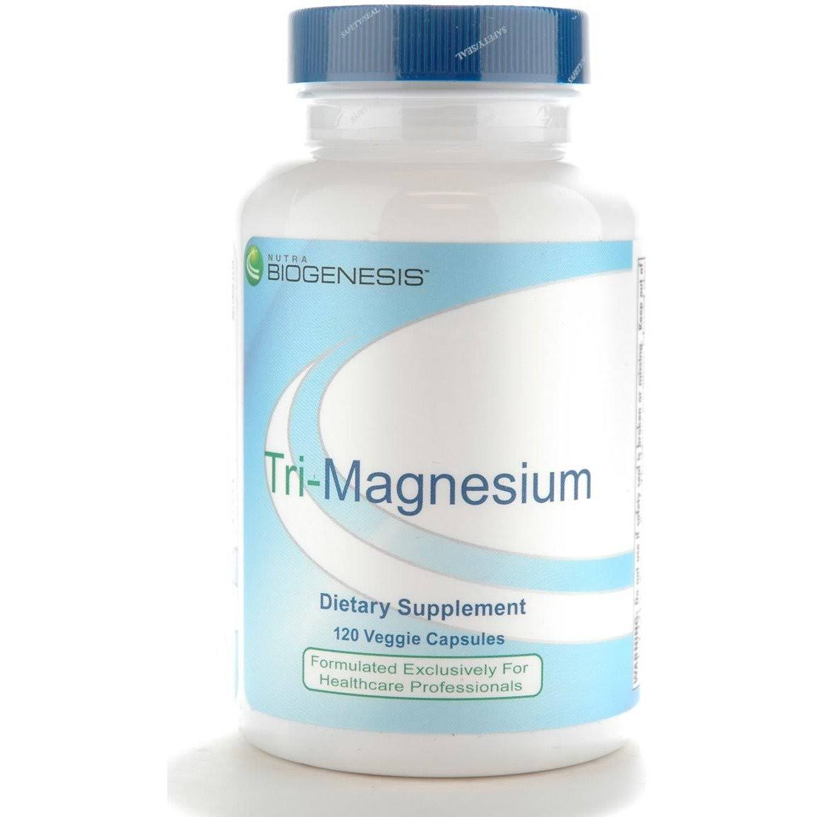 Biogenesis Nutraceuticals Tri-Magnesium Dietary Supplement - 120 Capsules