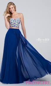 long prom dress strapless embroidered bodice long prom