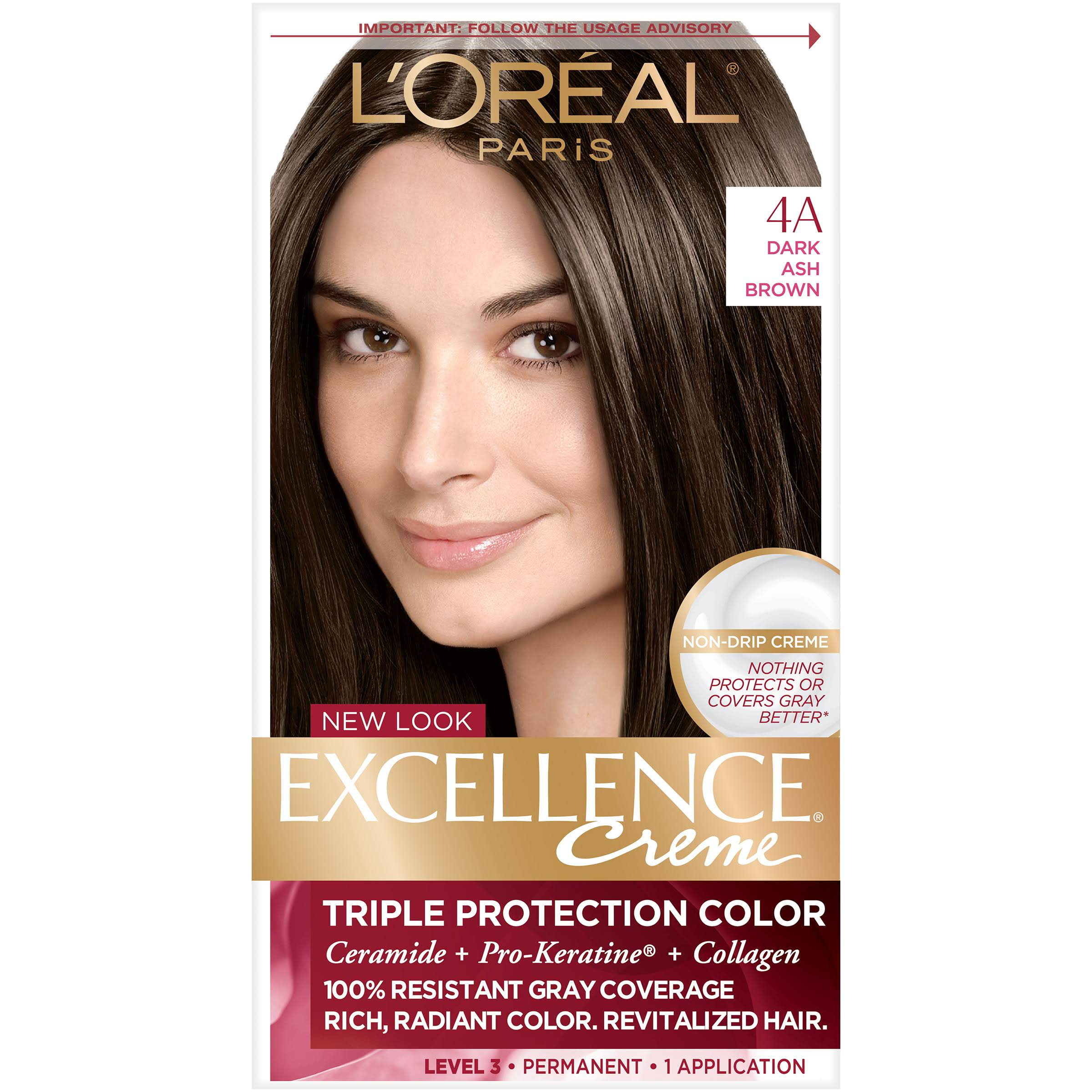 L'Oréal Paris Excellence Créme Permanent Hair Color - 4A Dark Ash Brown