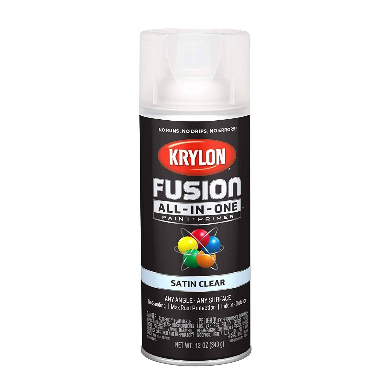 Krylon K02735007 Fusion All-in-One Spray Paint, Clear