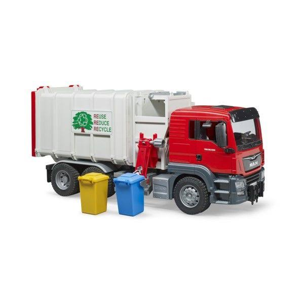 Bruder Man TGS Side Loading Garbage Truck Toy Vehicle