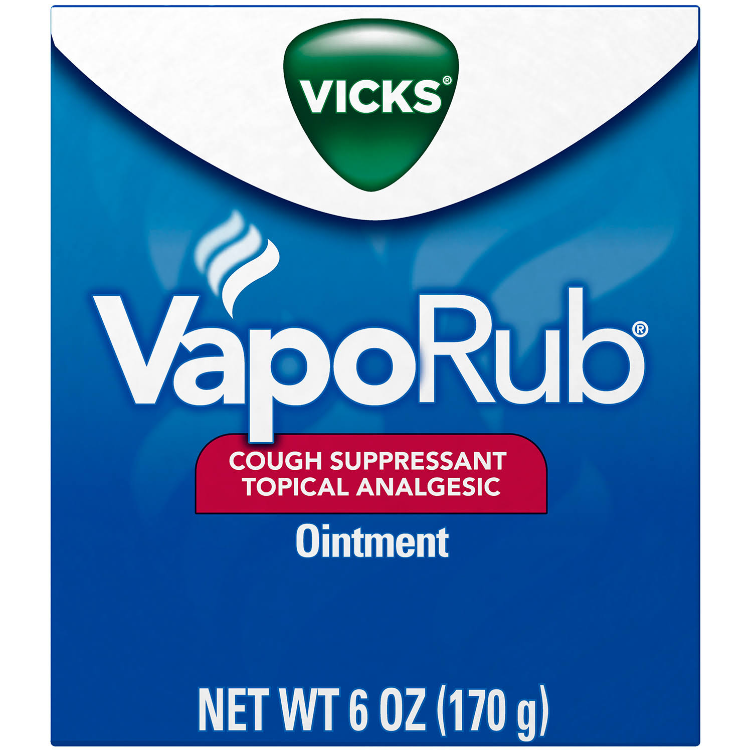 Vicks VapoRub Cough Suppressant Topical Analgesic Ointment - 6oz