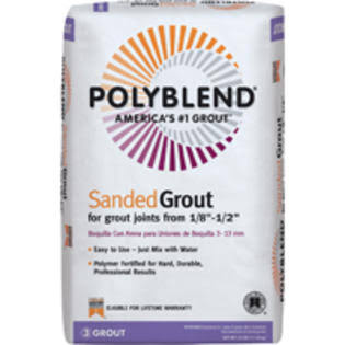 Custom Building Polyblend Sanded Grout - 60 Charcoal, 25lb