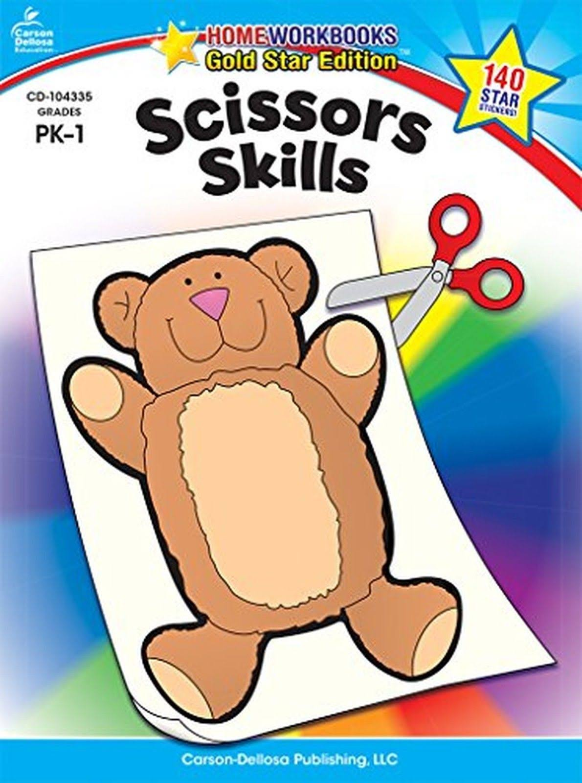 Scissors Skills Grades PK 1: Gold Star Edition - Carson Dellosa Publishing