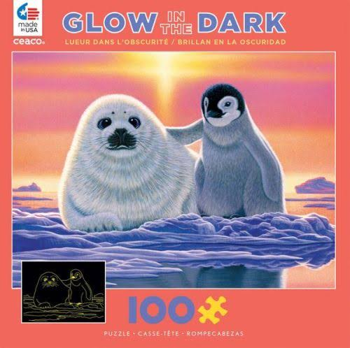 Ceaco Glow-in-the-Dark - Friends Around The World - 100 Piece Puzzle
