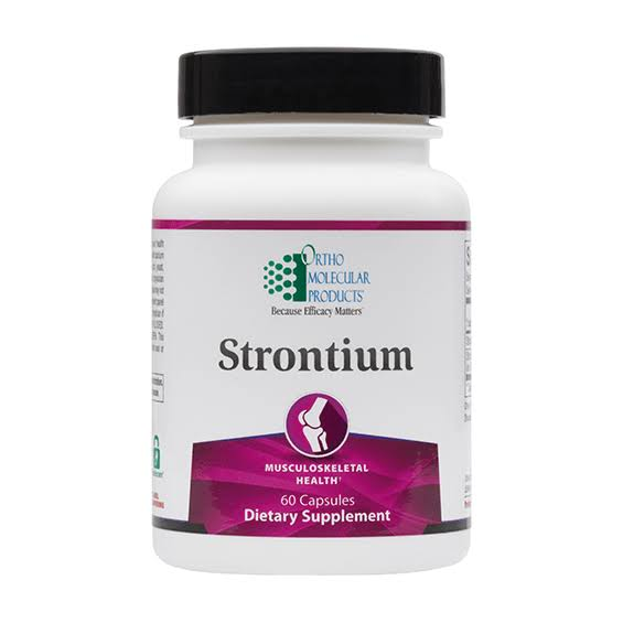 Ortho Molecular Product Strontium Supplement - 60 Capsules