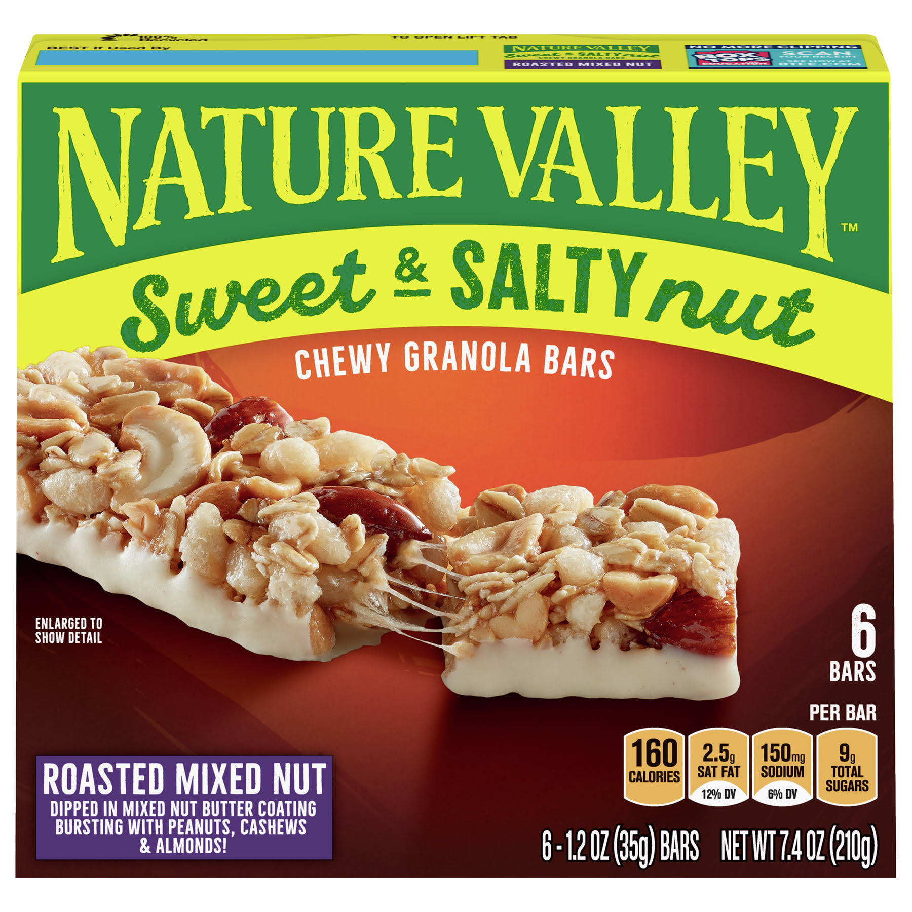 Nature Valley Sweet & Salty Granola Bars - Roasted Mixed Nut, 1.2oz, 6ct