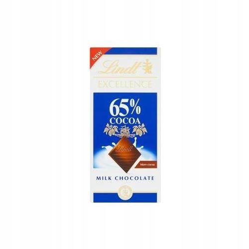 Lindt Excellence 65 Percent Cocoa Milk Chocolate - 80g