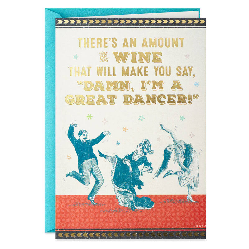 Dance Responsibly Funny Birthday Card