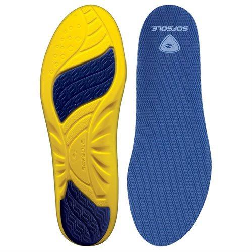 Sof Sole Athlete Cushion Orthotic Insoles - Blue, Yellow