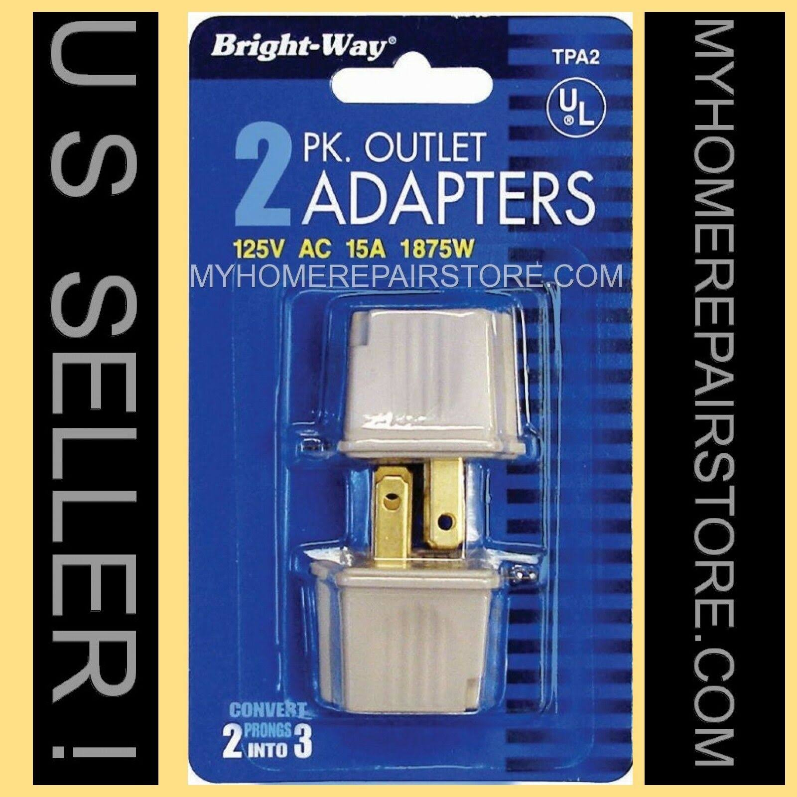 Bright-way 2 to 3 Outlet Adapters - 2 Pack