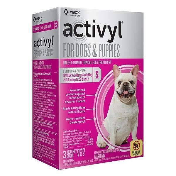Activyl for Dogs & Puppies Small (15-22 lbs)
