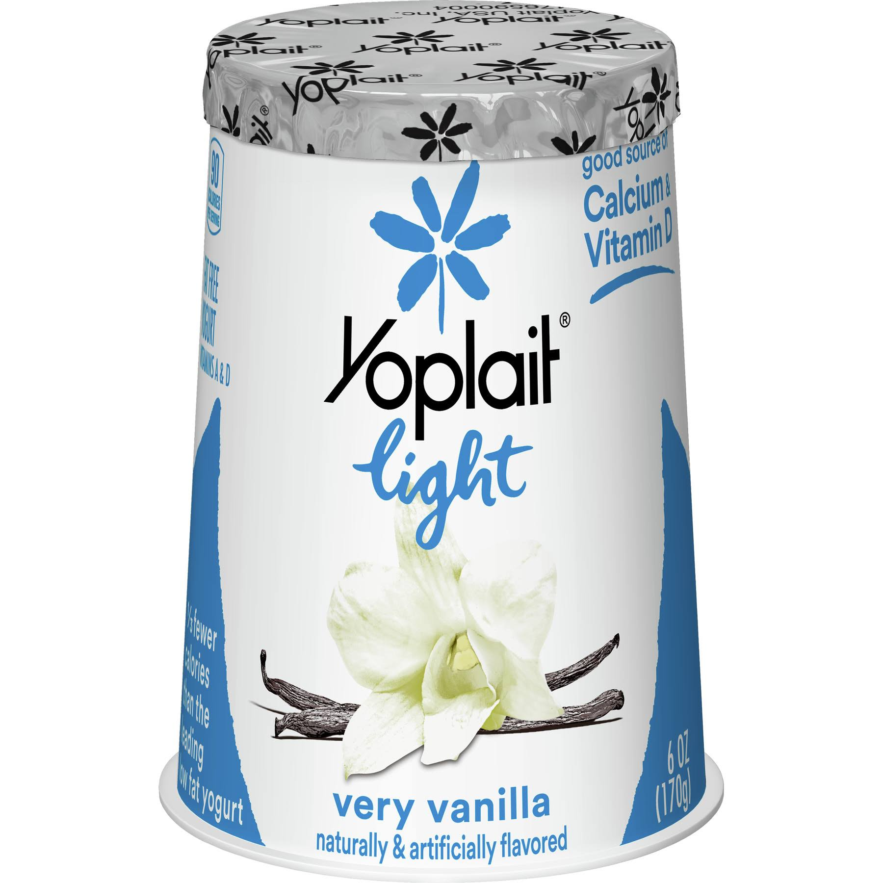 Yoplait Light Fat Free Yogurt - Very Vanilla, 170g