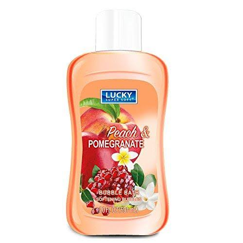 Lucky Super Soft Bubble Bath - Pomegranate and Peach, 20oz