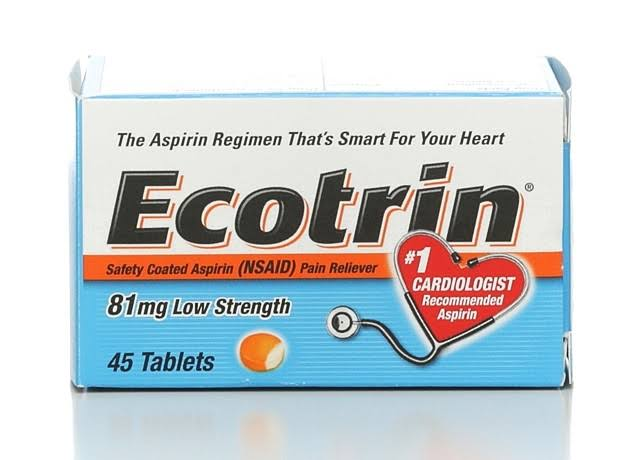 Ecotrin Low Strength Aspirin Pain Reliever Tablets