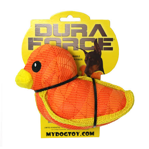 Dog Toy - DuraForce Duck Tiger Orange-Yellow
