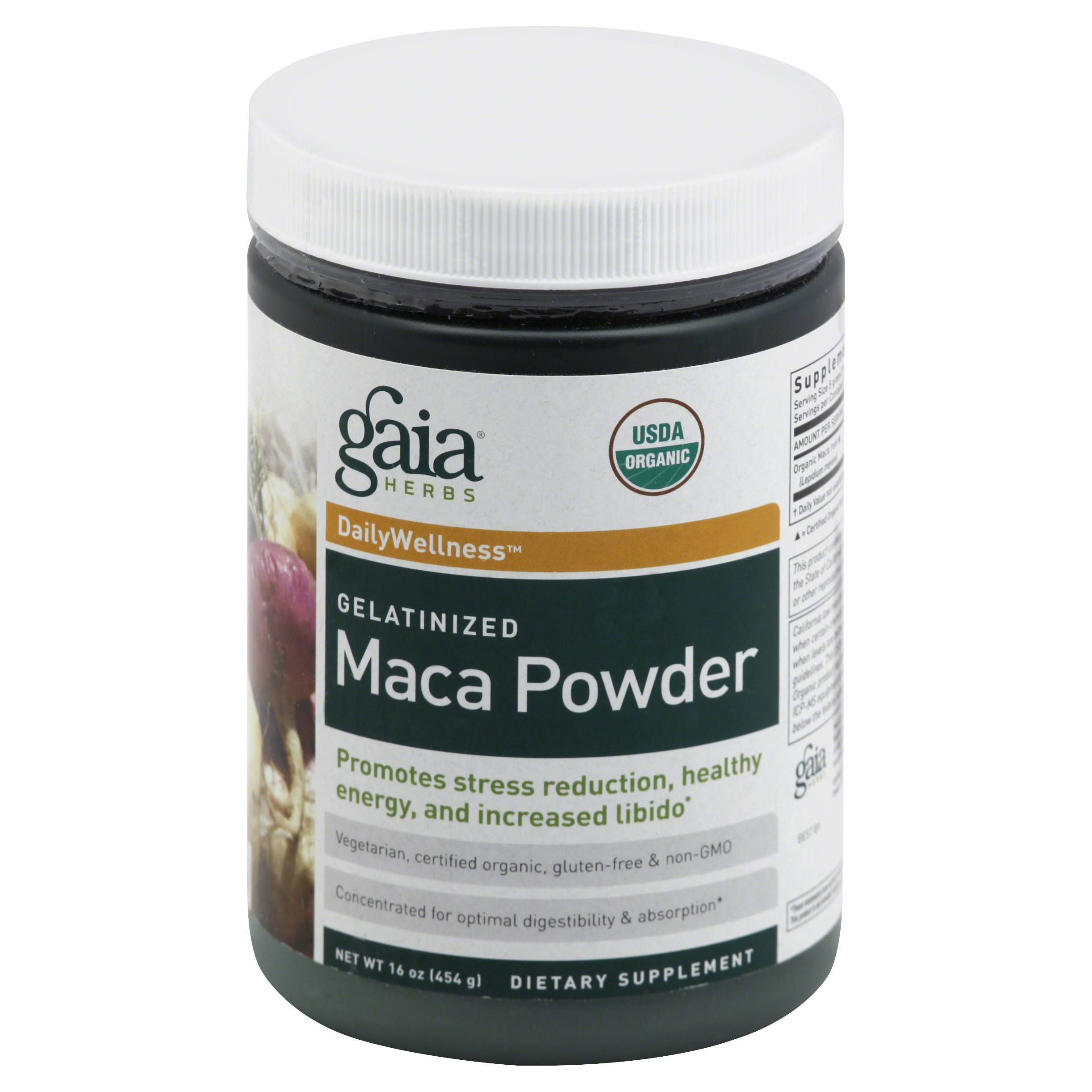 Gaia Herbs Gelatinized Maca Powder Dietary Supplement - 454g