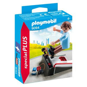 Playmobil 9094 Special Plus Skateboarder with Ramp Set