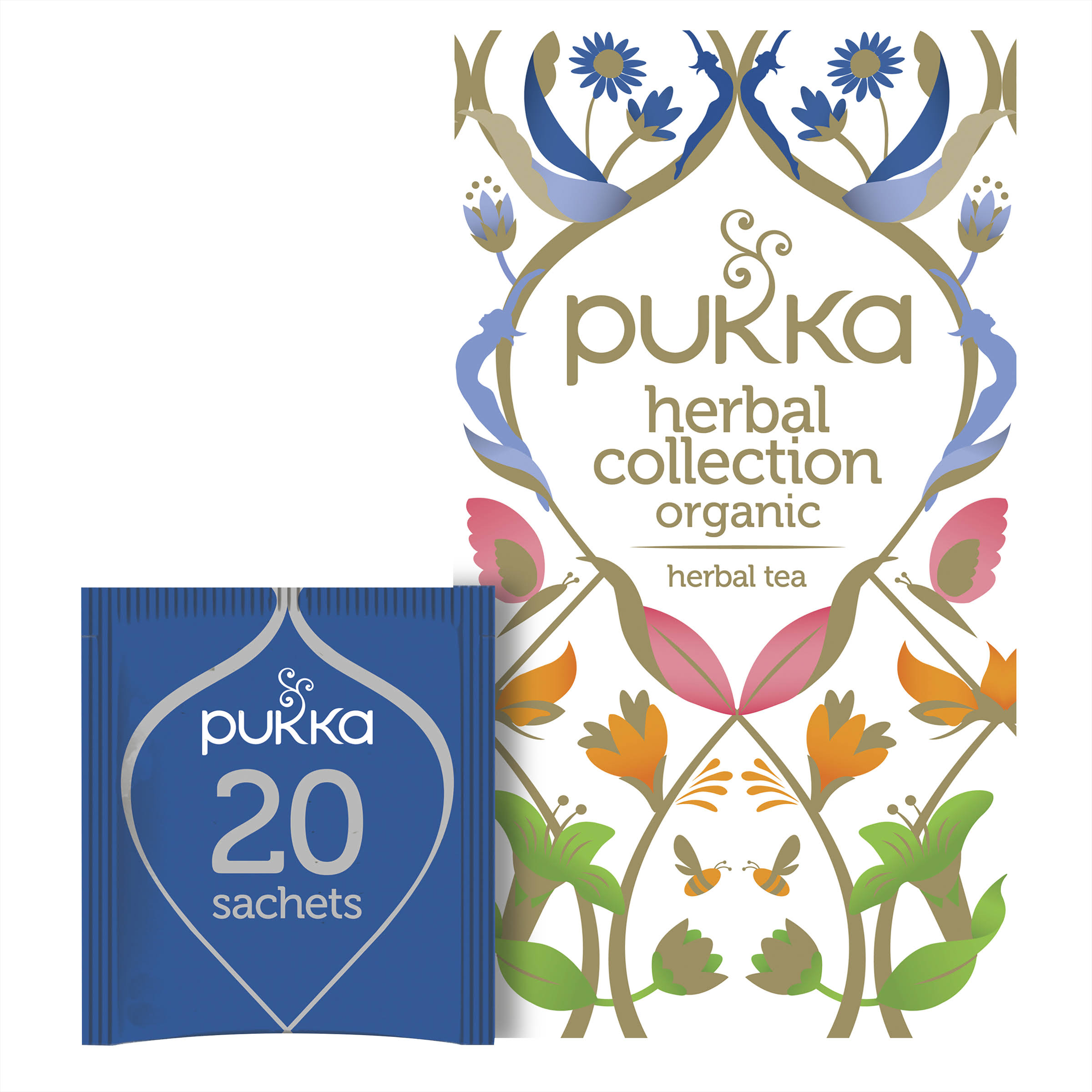Pukka Herbal Collection Herbal Tea Sachets - 34.4g, 20 Assorted