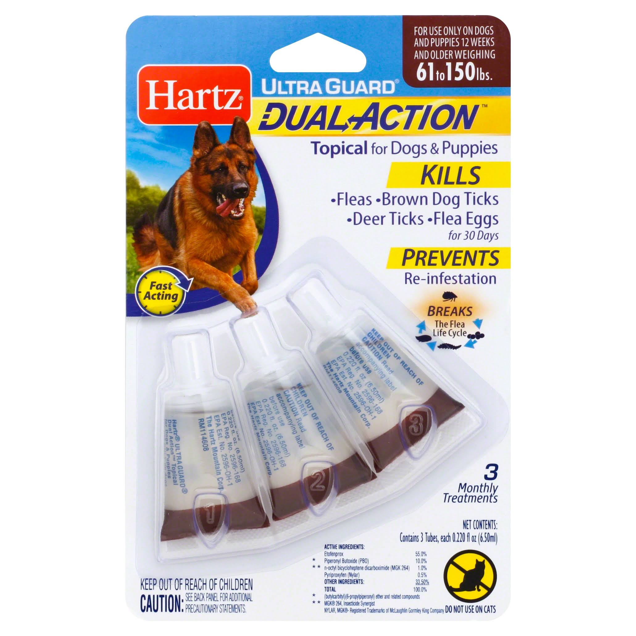 Hartz Ultraguard Dual Action Flea and Tick Treatment - for Dogs and Puppies