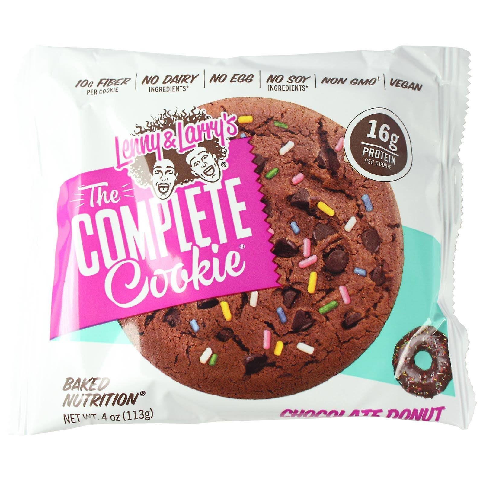 Lenny & Larrys Baked Nutrition Cookie, The Complete, Chocolate Donut - 4 oz