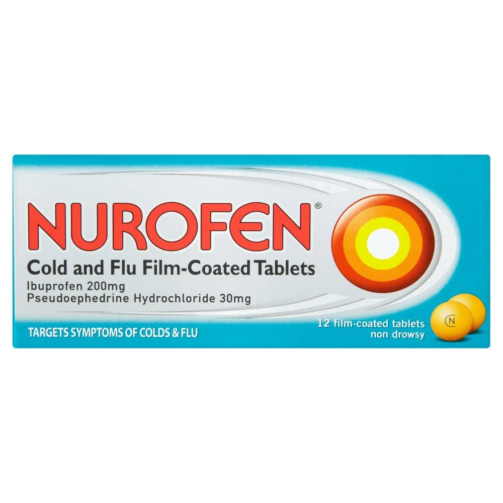 Nurofen Cold And Flu Film-Coated Tablets - 12 Film-Coated Tablets