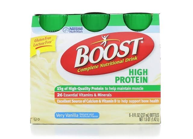 Nestlé Health Science Boost Complete Nutritional Drink - Very Vanilla, 8oz, 6pk