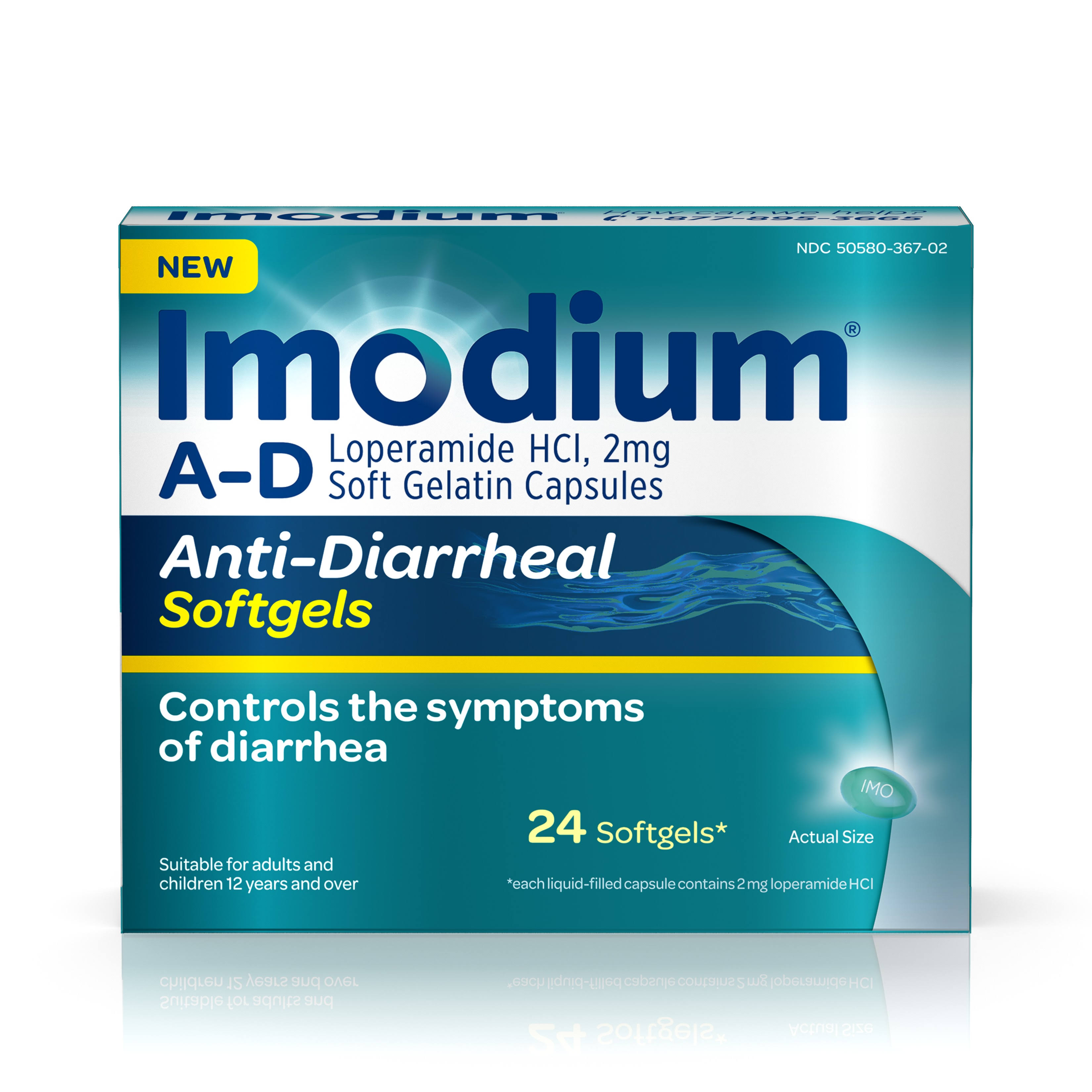 Imodium A-D Anti-Diarrheal Softgels - 24 Softgels