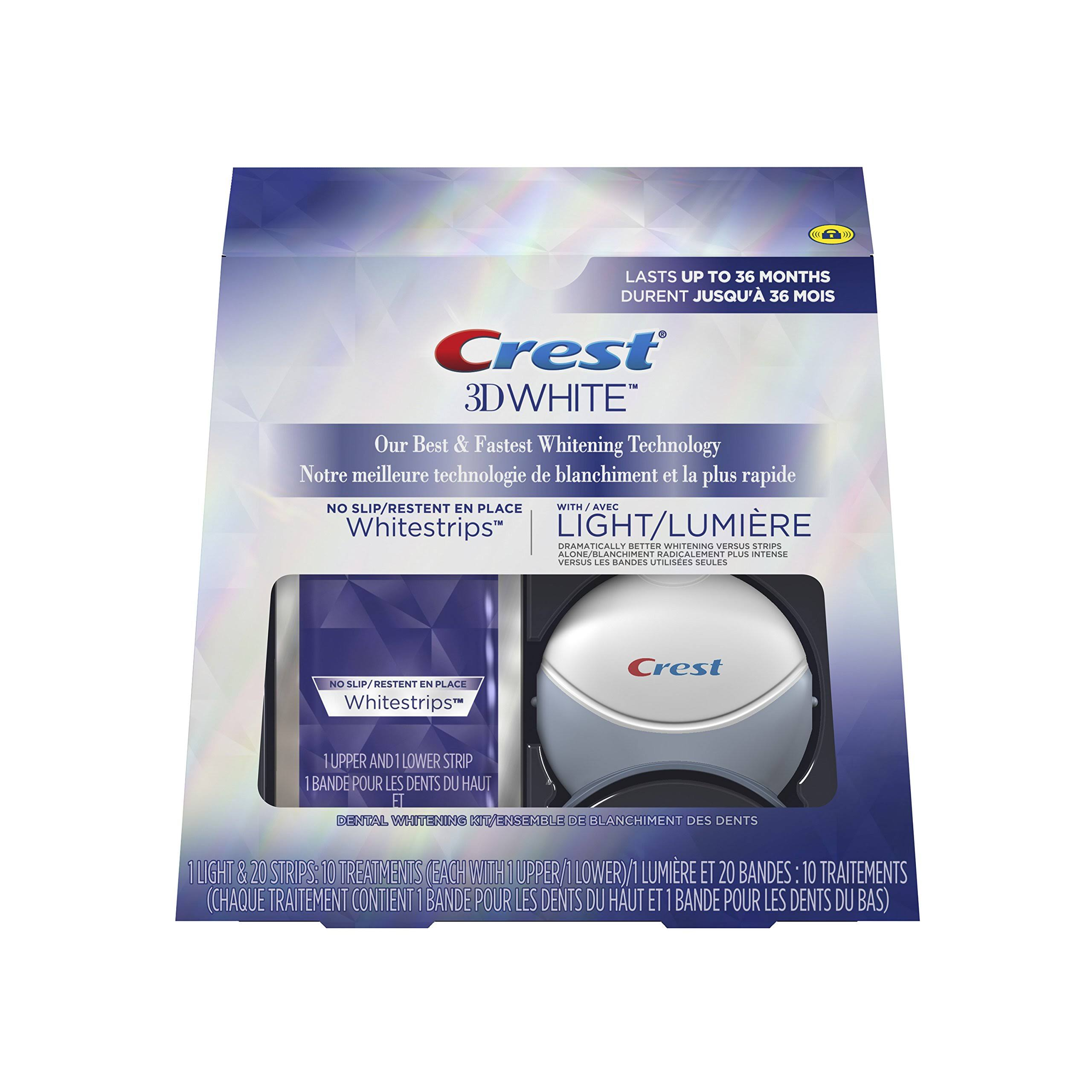 Crest 3D White Whitestrips - with Light, 10 Units