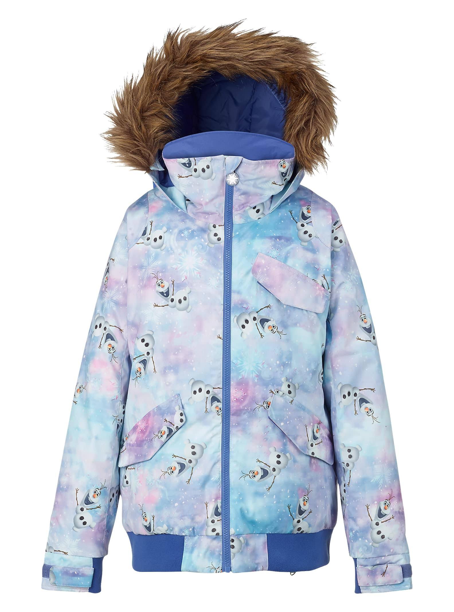 Burton Youth Girls Twist Bomber Jacket, Olaf Frozen, Small