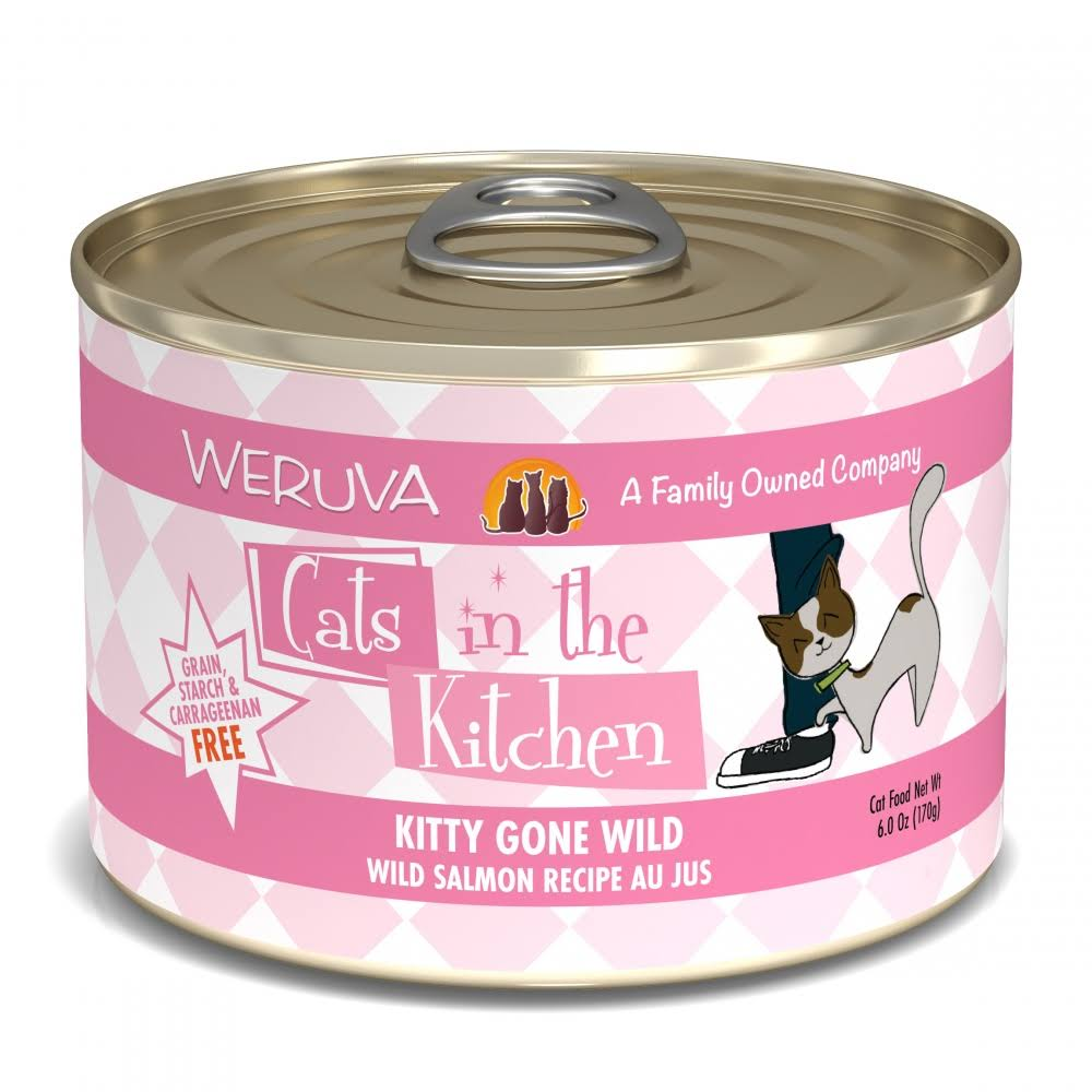 Weruva Cats in the Kitchen Kitty Gone Wild Cat Food - 6oz, Wild Salmon