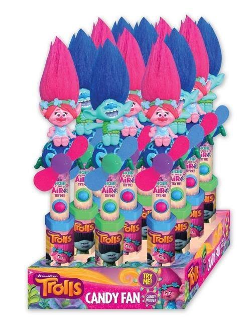 Dreamworks Trolls Valentines Candy Fan - .53oz