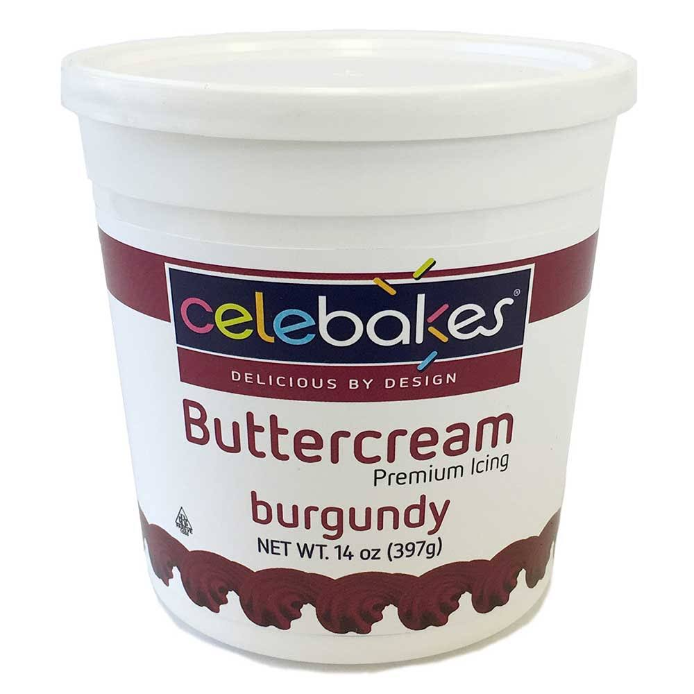 Celebakes by CK Products Burgundy Buttercream Icing Pho Free 14 Ounce