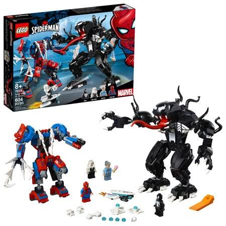 Lego Marvel 76115 Spider Mech Vs Venom Set - 604pcs