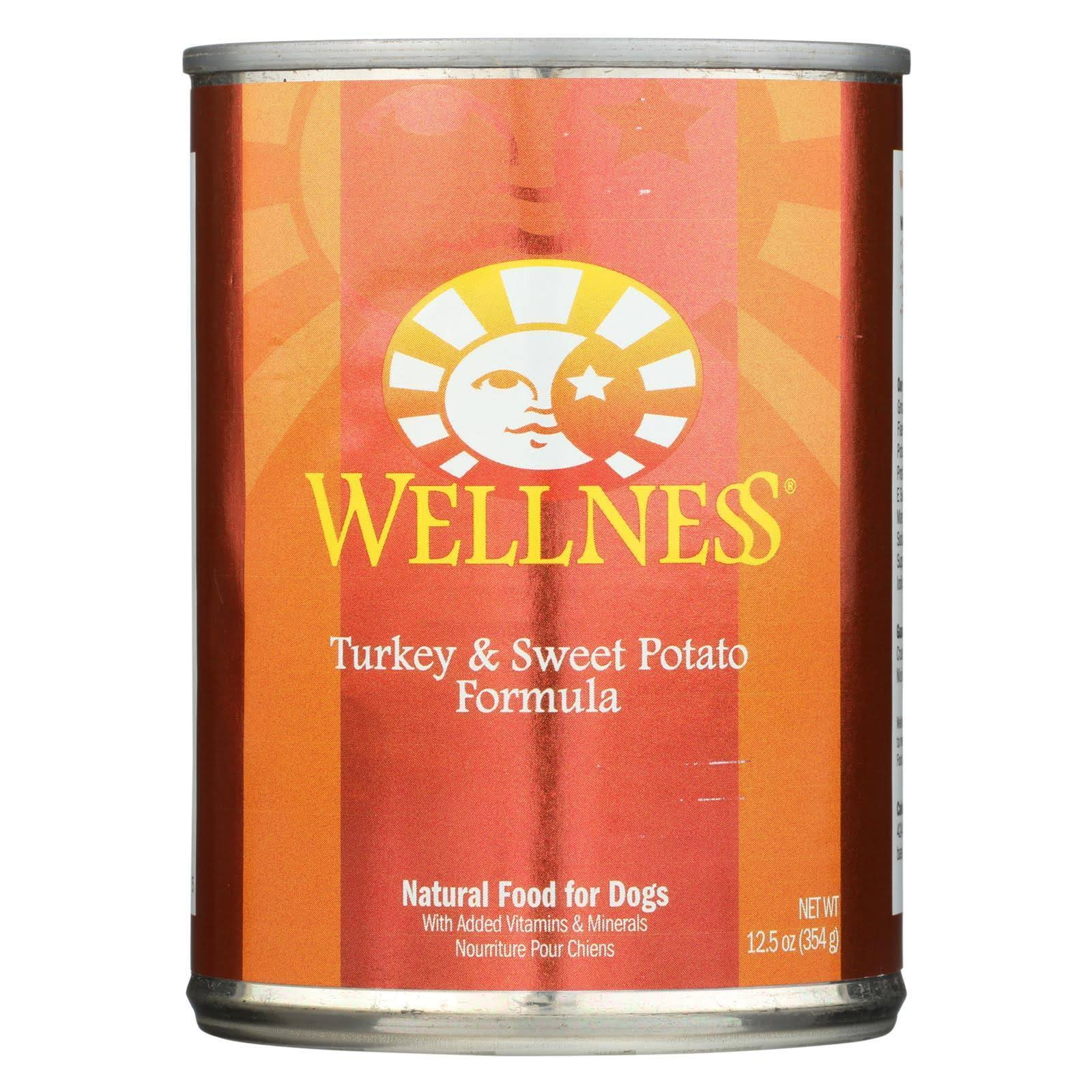 Wellness Dog Food - Turkey and Sweet Potato, 12.5oz
