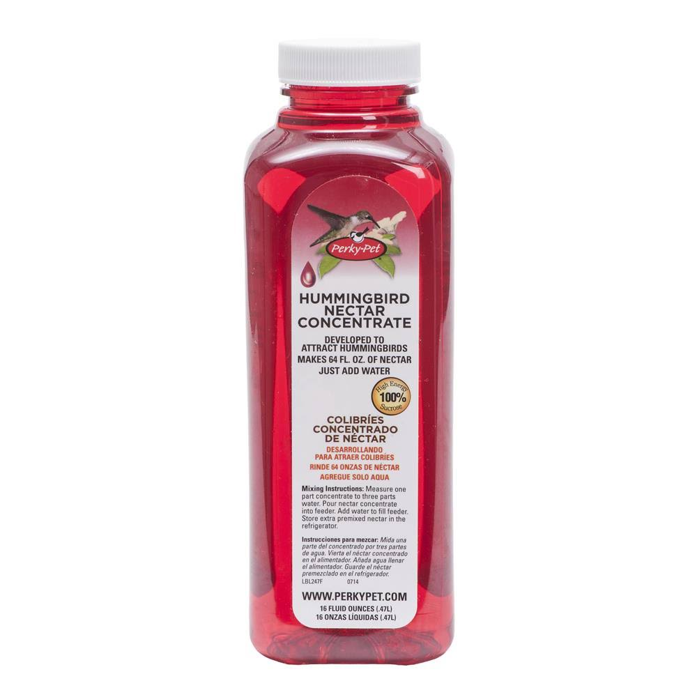 Perky-Pet Red Liquid Hummingbird Nectar Concentrate 16 oz Bottle