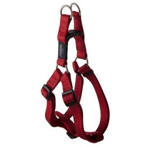 Rogz Utility Reflective Snake Adjustable Dog Step-in-Harness - Red, Medium, 5/8""