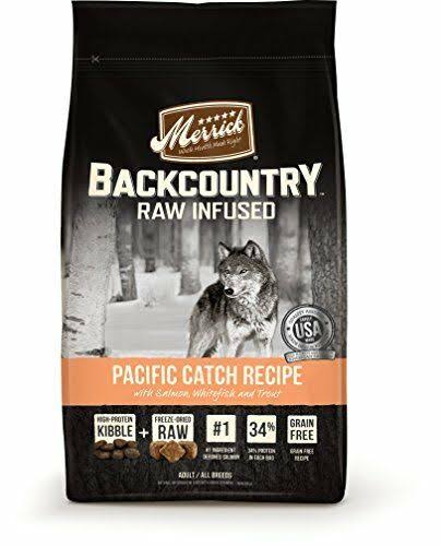 Merrick Backcountry Raw Infused Grain-Free Adult Dry Dog Food - 22 lbs, Pacific Catch Recipe