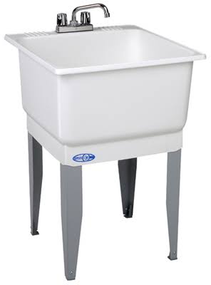 Mustee Low Lead Combo Laundry Tub