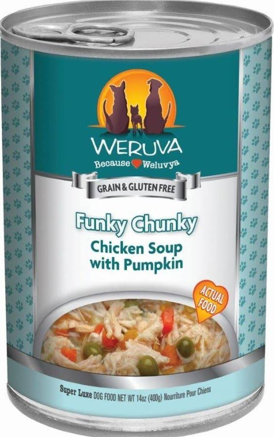 Weruva Funky Chunky Dog Food - Chicken Soup, 5.5oz, 24pk