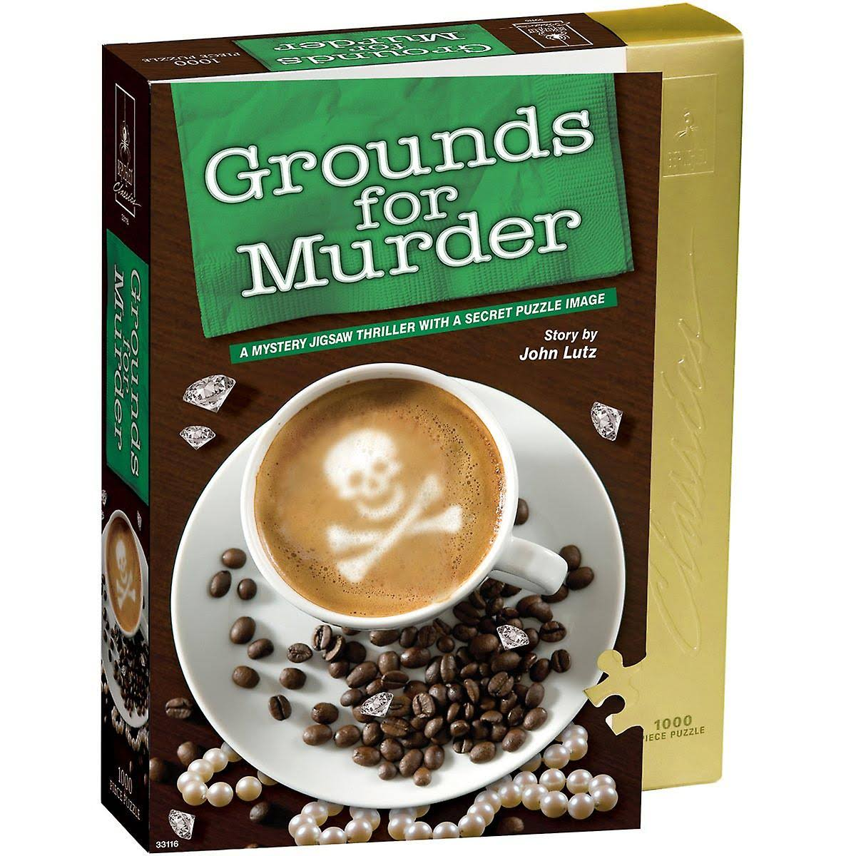 Bepuzzled Classic Mystery Jigsaw Puzzle - Grounds For Murder, 1000pcs