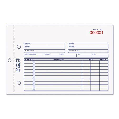 "Rediform Carbonless Invoice Book - 5 1/2"" x 7 7/8"", 50 Sets"