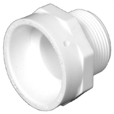 "Charlotte Pipe PVC Male Fitting Adaptor - 4"" Dia"