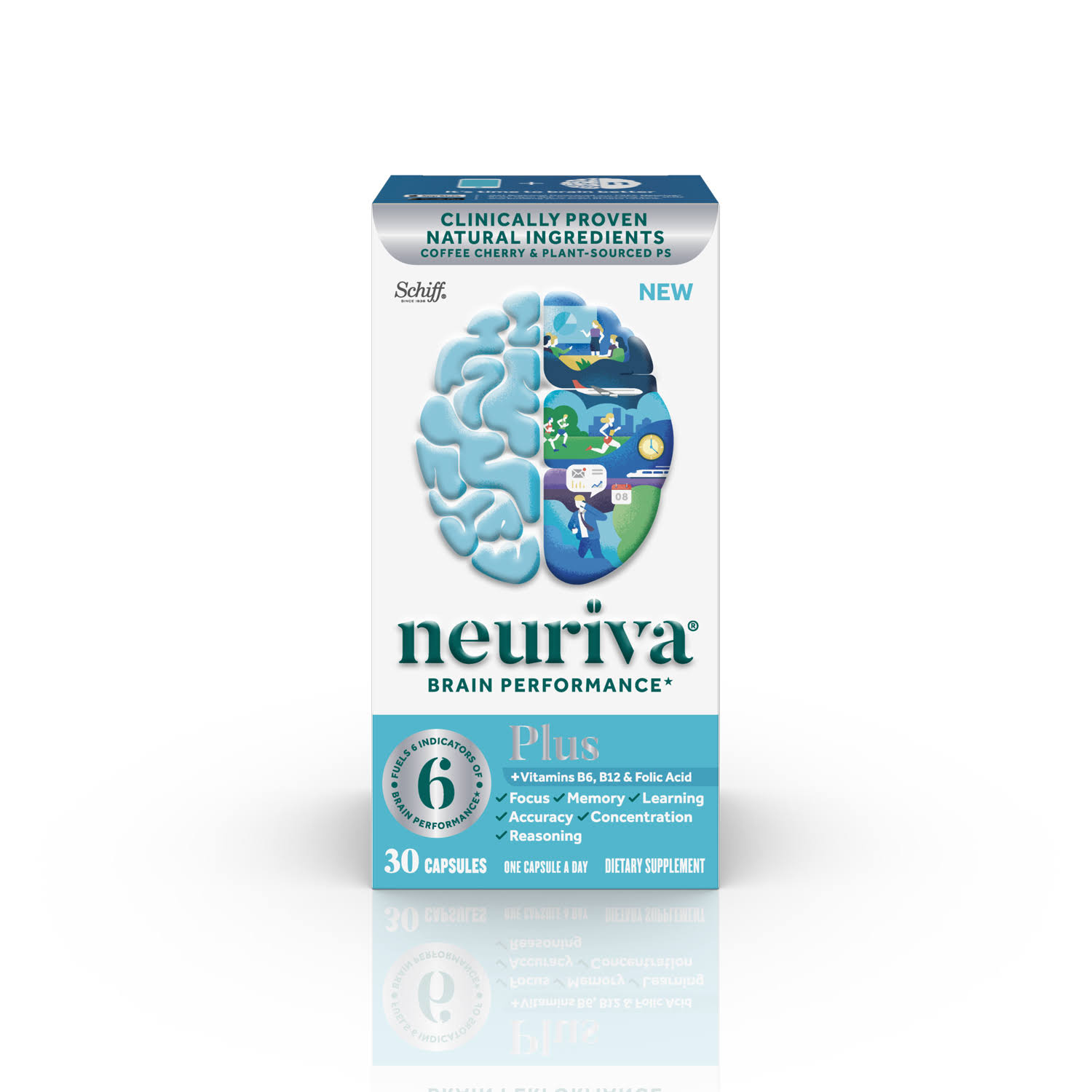 Neuriva Brain Performance, Plus - 30 capsules