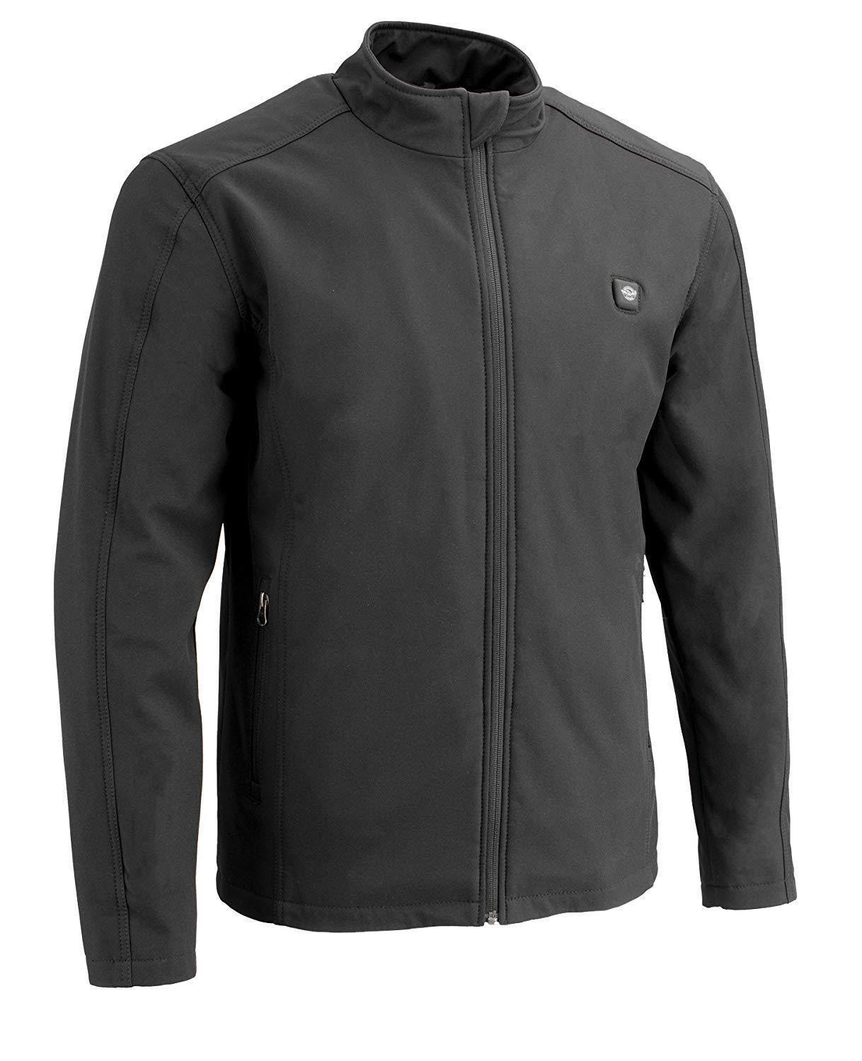 Milwaukee Performance Men's Zipper Front Heated Soft Shell Jacket (Black, 4X)