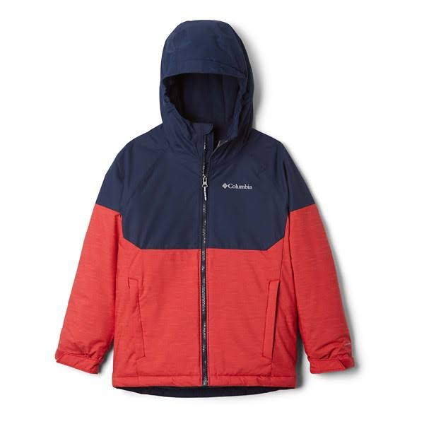 Columbia Alpine Action II Jacket Boys' Mountain Red Heather/Collegiate Navy Medium